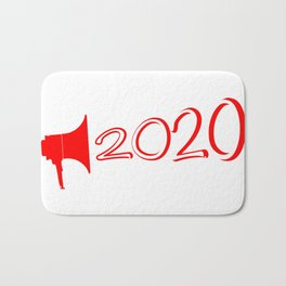 Red 2020 Megaphone Bath Mat