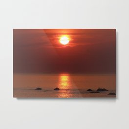 Halo Sunset Glow Metal Print