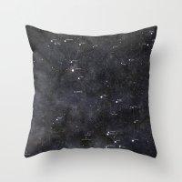 scorpio Throw Pillows featuring Scorpio by Lukasz Baka