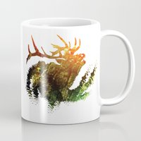 elk Mugs featuring Elk by Justin Kedl