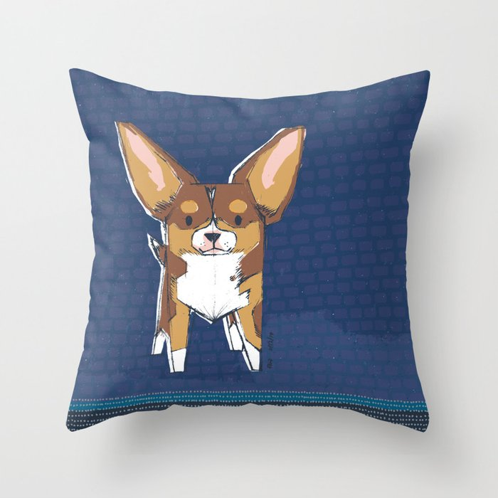Tibby by Friztin Throw Pillow