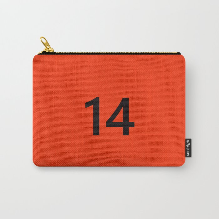 Legendary No. 14 in orange and black Carry-All Pouch