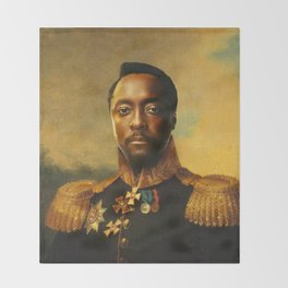 will.i.am - replaceface Throw Blanket