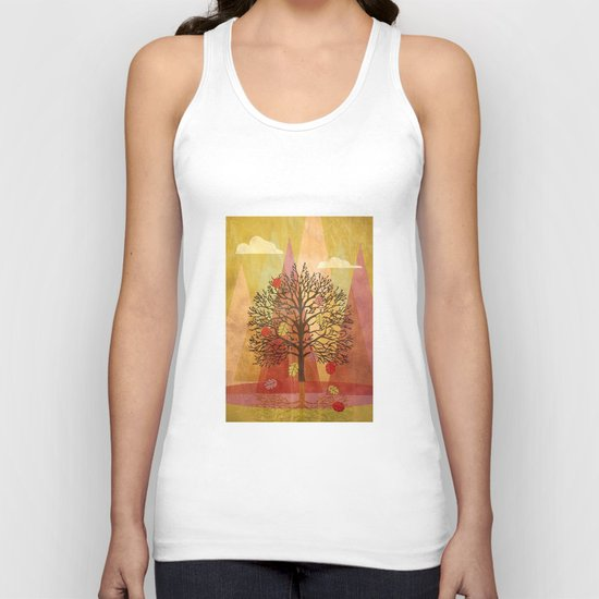 Autumn Tree Unisex Tank Top