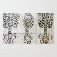 bones Area & Throw Rugs featuring Bones by Kristen Willsher