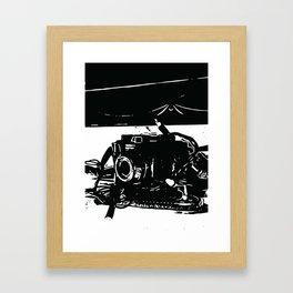 Camera mantel Framed Art Print