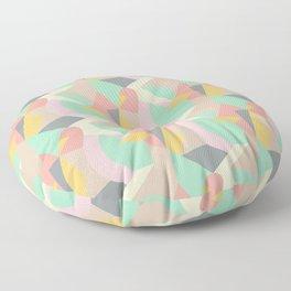 Abstract Geometric Floor Pillow