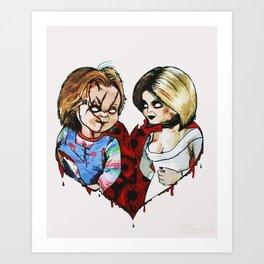 Tiffany and Chucky Art Print