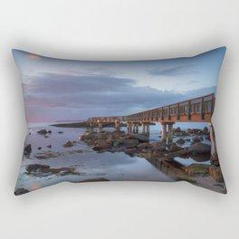 Pans Rocks Sunset Rectangular Pillow