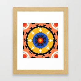 Bold and bright beauty of suzani patterns ver.8 Framed Art Print