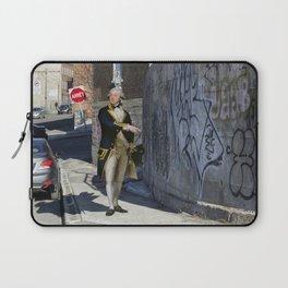 """""""John Gell contemplates Modern Art"""" Laptop Sleeve"""