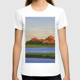 Orange Fall Intercoastal Tree Tops Painting T-shirt