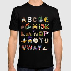 Child of the 70s Alphabet Mens Fitted Tee Black MEDIUM