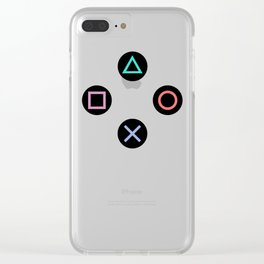 Play with Playstation Controller Buttons Clear iPhone Case