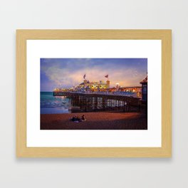Brighton Pier Twilight Framed Art Print