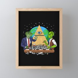 Alien Illuminati Conspiracy Framed Mini Art Print