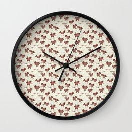 A Cranky Flock Wall Clock