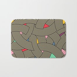 Modern Scandinavian Multi Colour Color Curve Graphic Bath Mat