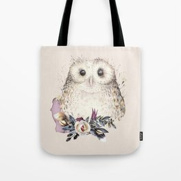 Boho Illustration- Be Wise Little Owl Tote Bag