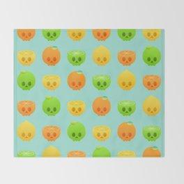 Citrus Skulls Throw Blanket