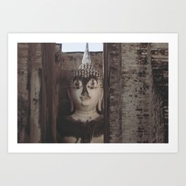 Wat Si Chum Buddha at Sukhothai Historical Park Art Print