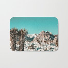 Vintage Lovers Cacti // Red Rock Canyon Mojave Nature Plants and Snow Desert in the Winter Bath Mat