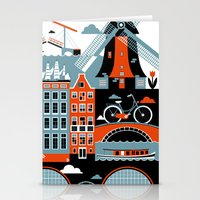 amsterdam Stationery Cards featuring Amsterdam by koivo