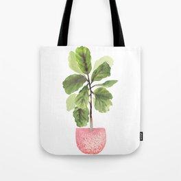 Fiddle-Leaf Fig (Watercolor) Tote Bag