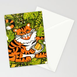 Tiger teatime Stationery Cards