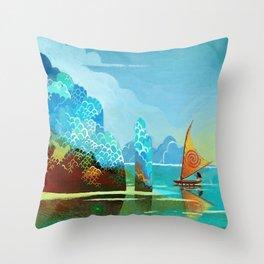 Moana lagoon Throw Pillow