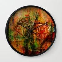 venice Wall Clocks featuring Venice by Ganech joe