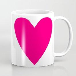 Neon Pink Heart Coffee Mug