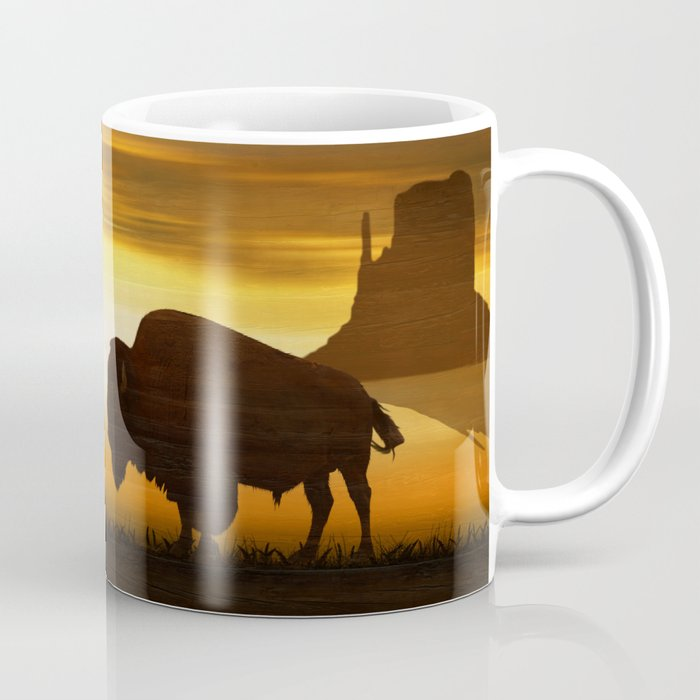 The lonely bison Coffee Mug