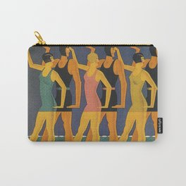 Art Deco Swimwear and Beach Balls Vintage Poster Carry-All Pouch