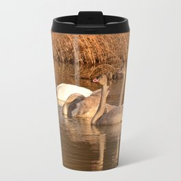 Trumpeter Swan Family Travel Mug