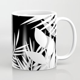 The leaves and berries. Black and white pattern . Coffee Mug