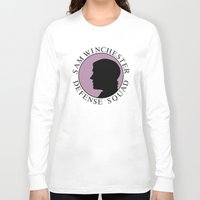 sam winchester Long Sleeve T-shirts featuring Sam Winchester Defense Squad by Golden Irises