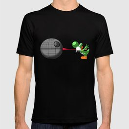 Yoshi eats the DS T-shirt