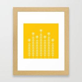 Minimalist Flowers (Crocus Yellow) Framed Art Print