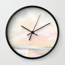 Rebirth - Pastel Ocean Seascape Wall Clock