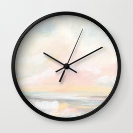 Rebirth - Pastel Ocean Seascape Wall Clock