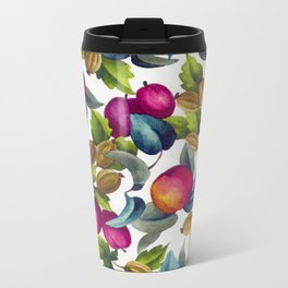Watercolor Fruit Metal Travel Mug