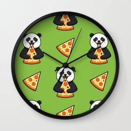 Pizza Panda cut Kawaii Wall Clock