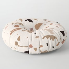 Modern Landscape / Abstract Neutral Shapes Floor Pillow