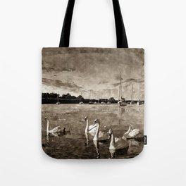 Serene Swans Watercolor  Tote Bag