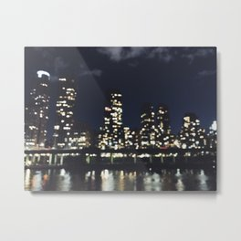 City Out of Focus Metal Print