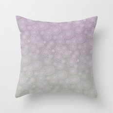 Faded Desert Floral Throw Pillow