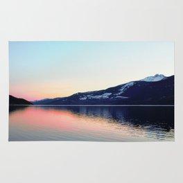 Sunset on Arrow Lake Rug
