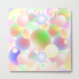 Blur Balls Metal Print