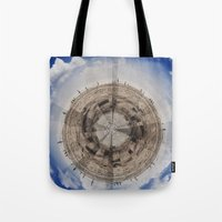 planet of the apes Tote Bags featuring Planet by Sébastien BOUVIER